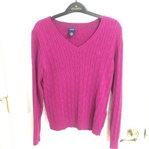 Izod Fuschia Cable Sweater